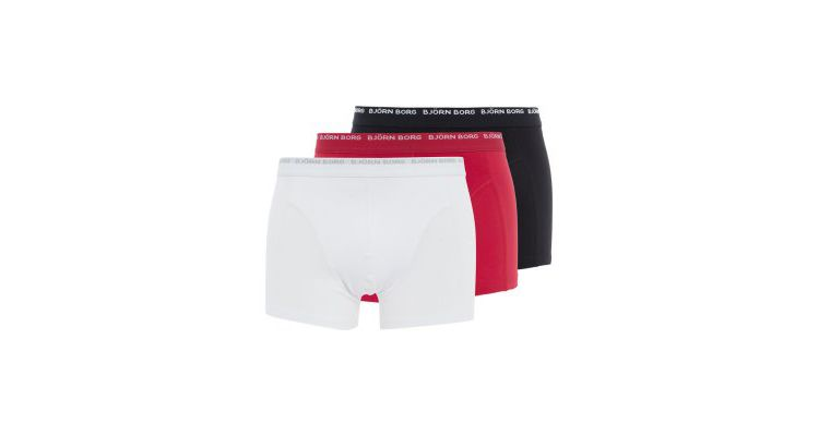 PRODUCT_IMAGE Björn Borg NOOS 3 PACK Hipster true red/white/black