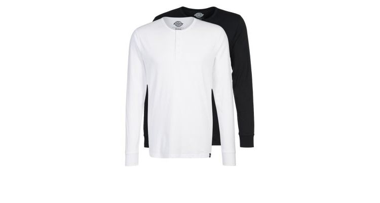 PRODUCT_IMAGE Dickies SEIBERT 2 PACK Longsleeve black/white
