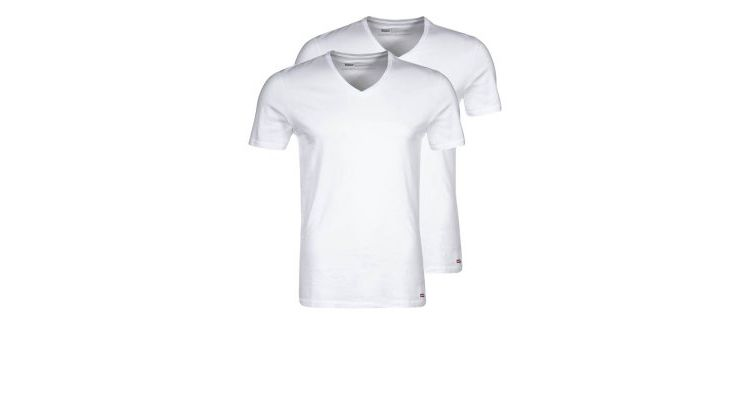 PRODUCT_IMAGE Levis® 2 PACK SLIM FIT Tshirt basic white/white