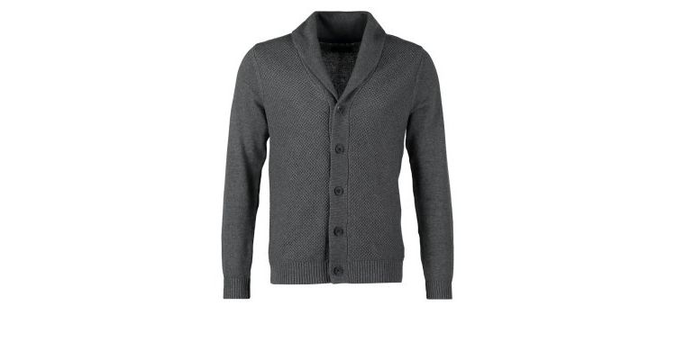 PRODUCT_IMAGE Selected Homme BATES SHAWL NECK CARDIGAN Vest medium grey malange