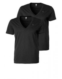 GStar BASE HTR V 2 PACK Tshirt basic black