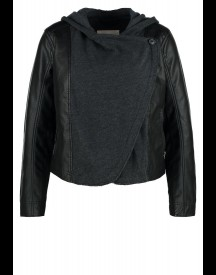 Hollister Co. Imitatieleren jas black