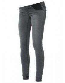 Mama Licious MLIDA Slim fit jeans dark grey