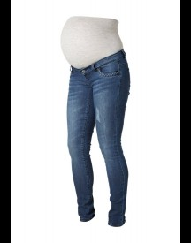 Mama Licious Slim fit jeans dark blue denim