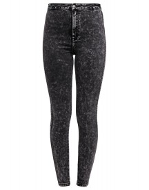 Missguided Slim fit jeans acid black