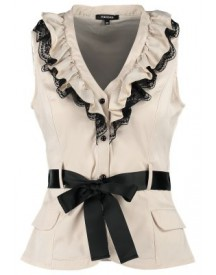Morgan OBELIN Top beige/noir