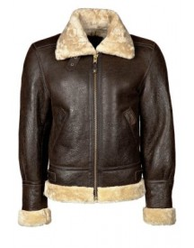 Schott NYC Leren jas dark brown