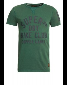 Superdry COPPER LABEL CAFE RACER Tshirt print race green
