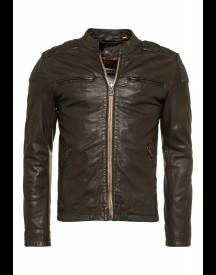Superdry ENDURANCE TRIAL Leren jas dark army