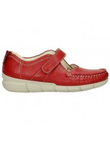 Mocassins Wolky 01500 Yukon - 70570 rood zomer leer