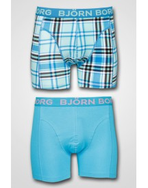 Björn Borg - 2-pack Fresh Check Shorts Swedish Blue