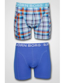 Björn Borg - 2-pack Lab Check Shorts Aquarius