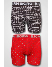 Björn Borg - 2-pack X-Mas Giftbox Hill Top + Tribal Knit Chilli Pepper