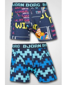 Björn Borg Boys - 2-pack High Score & Pulse Shorts Black Iris