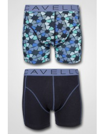 Cavello - 2-pack Retro Blue Sports Shorts