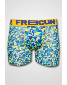 Freegun - Boxershort Original Geo Yellow/Blue