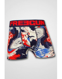 Freegun Boys - Trunk Cotton Shark Navy/Red