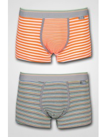 HOM - Business 2-pack Stripes Pack Maxi Orange/Grey