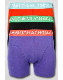 MuchachoMalo - 3-pack Solid Shorts Black/Red/Green