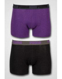 Puma - 2-pack Basic Boxer Petunia/Black