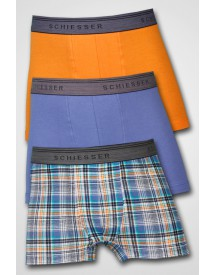Schiesser Boys - 3-pack Low Rise Short Orange/Blue/Block