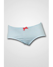 Schiesser Girls - Micro Pants Light Blue/White Stripe