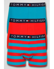 Tommy Hilfiger - 3-pack Elias Trunk High Risk Red/Caribbean Sea