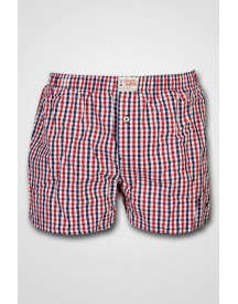 Tommy Hilfiger - Henry Woven Boxer High Risk Red/ Peacoat