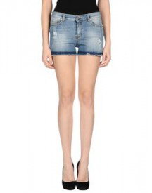Pinko grey - denim - denim shorts on yoox.com