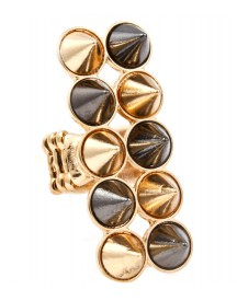 Hippe dames ring Spikes Goud