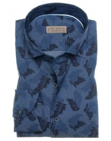 SALE John Miller tailored fit hemd blauw print