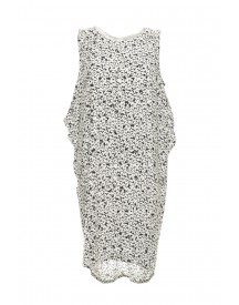 Vila dress reveling white/black