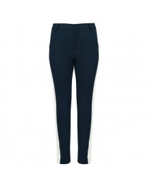 Striped Pantalon - Dark Blue