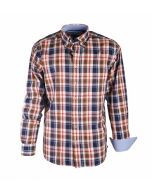 Shirt Casual Beige Brown Navy