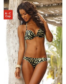 LASCANA Push-up-bikini in animal-dessin (2-delig)