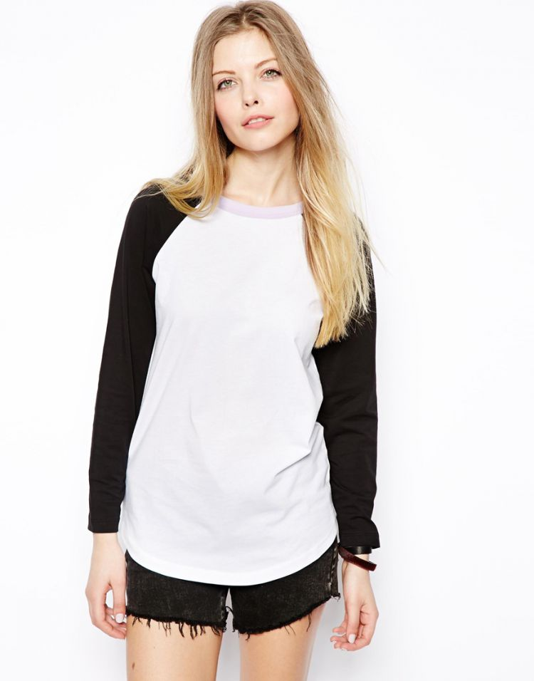PRODUCT_IMAGE ASOS Baseball Top with Contrast Neck Band