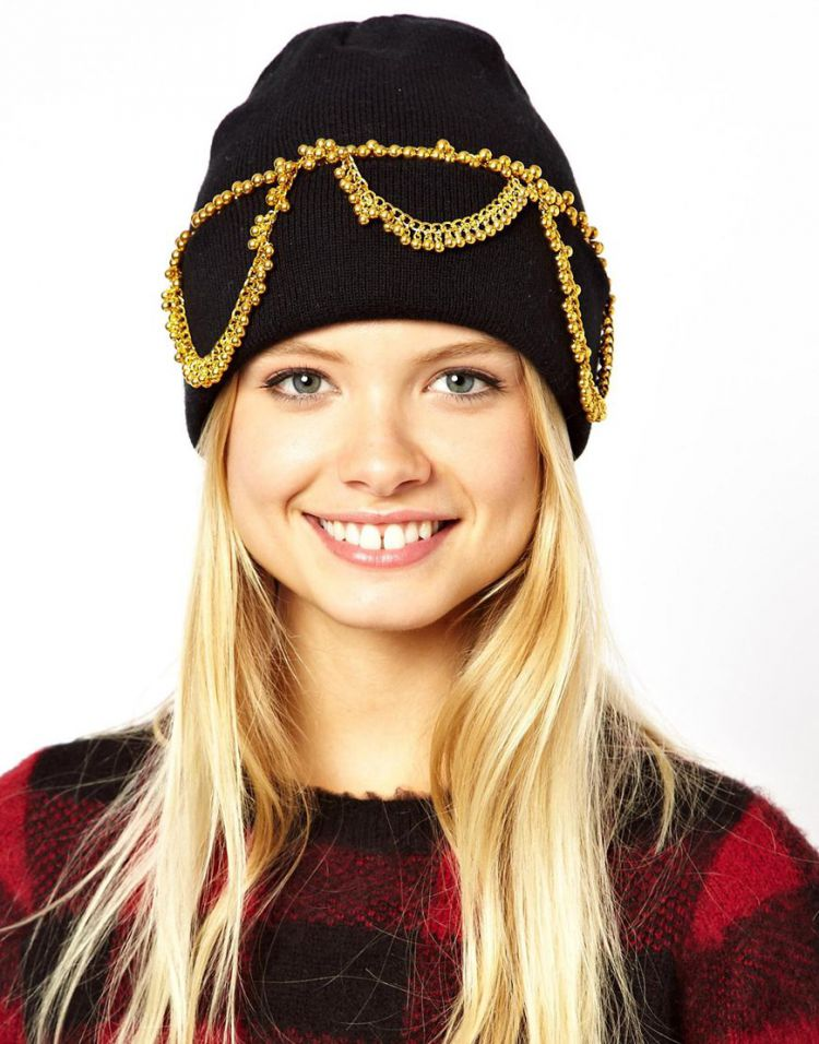 PRODUCT_IMAGE ASOS Chain Detail Beanie