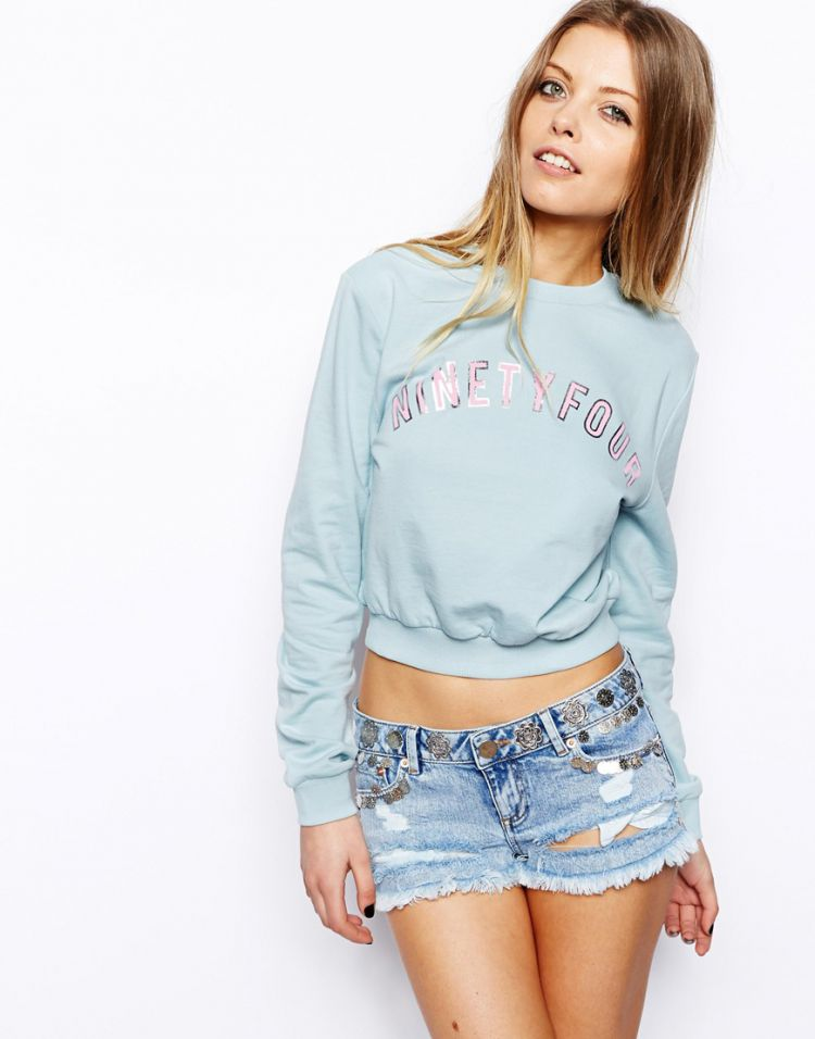 PRODUCT_IMAGE ASOS Cropped Sweat with 94 Print