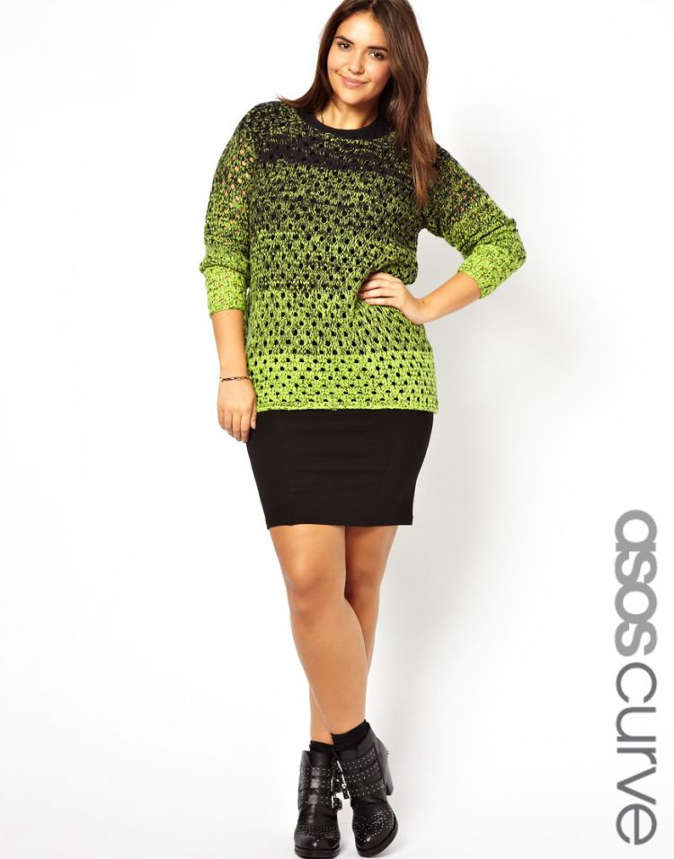 PRODUCT_IMAGE ASOS CURVE Exclusive Mini Skirt With Seams