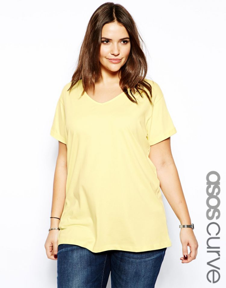 PRODUCT_IMAGE ASOS CURVE T-Shirt With V-Neck