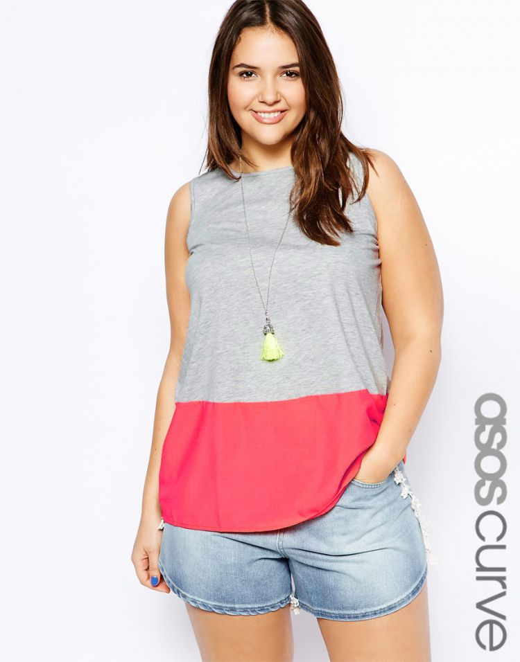 PRODUCT_IMAGE ASOS CURVE Vest With Woven Hem
