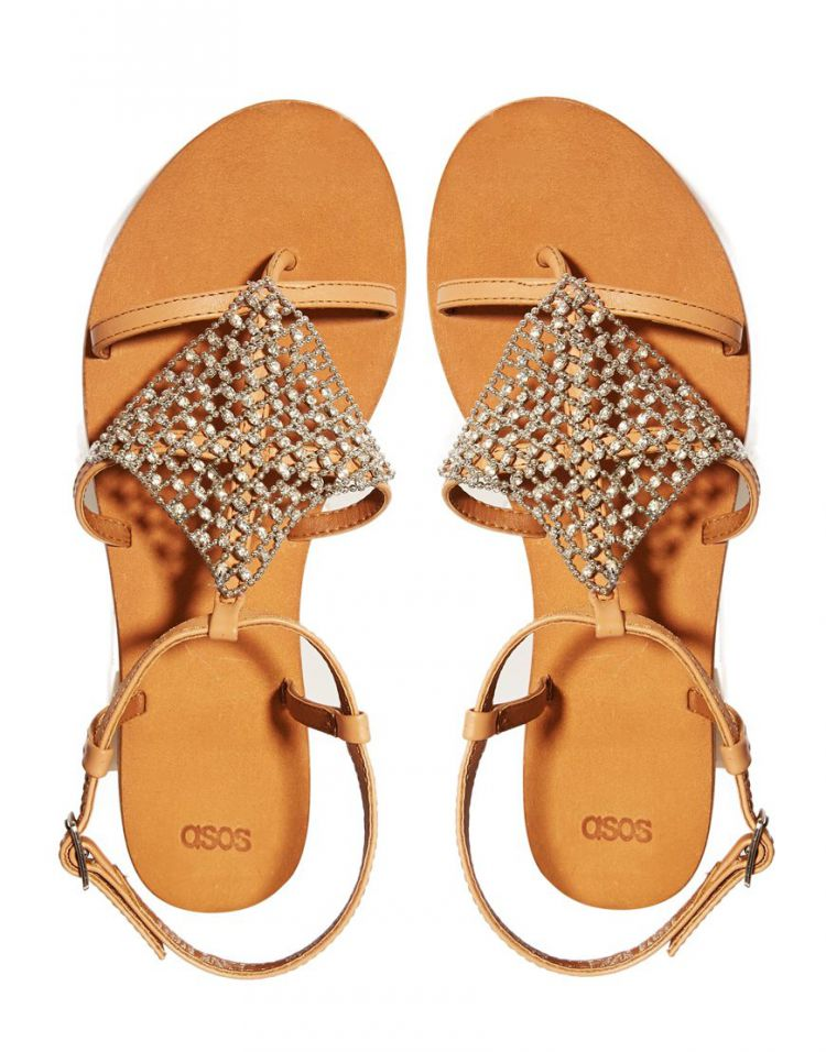 PRODUCT_IMAGE ASOS FLOOD LIGHT Leather Flat Sandals
