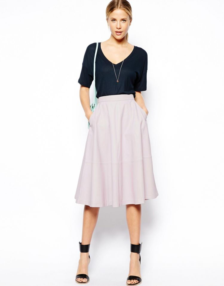PRODUCT_IMAGE ASOS Full Midi Skirt In Leather