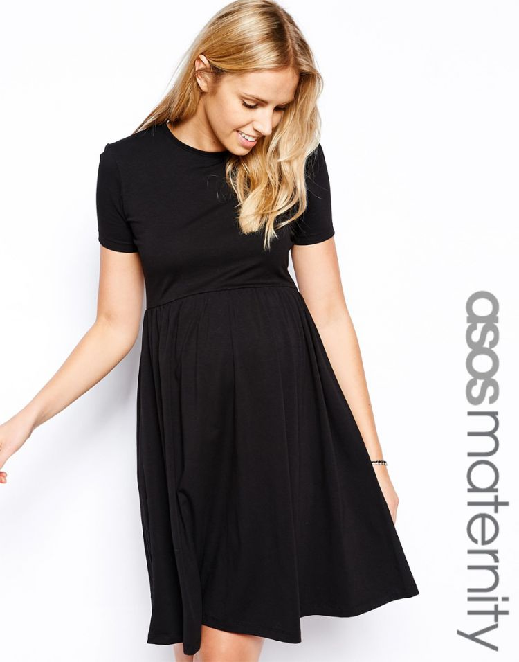 PRODUCT_IMAGE ASOS Maternity Skater Dress With Slash Neck And Short Sleeves In Longer Length