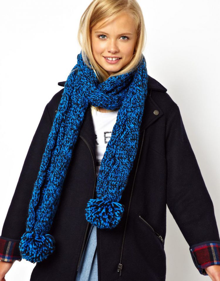 PRODUCT_IMAGE ASOS Mixed Knit Cable Scarf