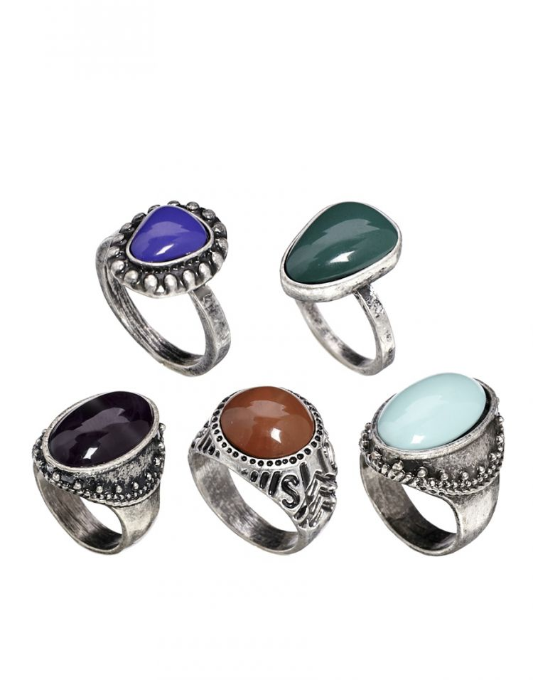 PRODUCT_IMAGE ASOS Mixed Stones Ring Pack