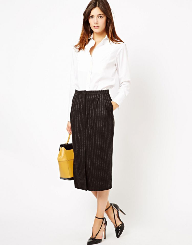 PRODUCT_IMAGE ASOS Pencil Skirt in Pinstripe
