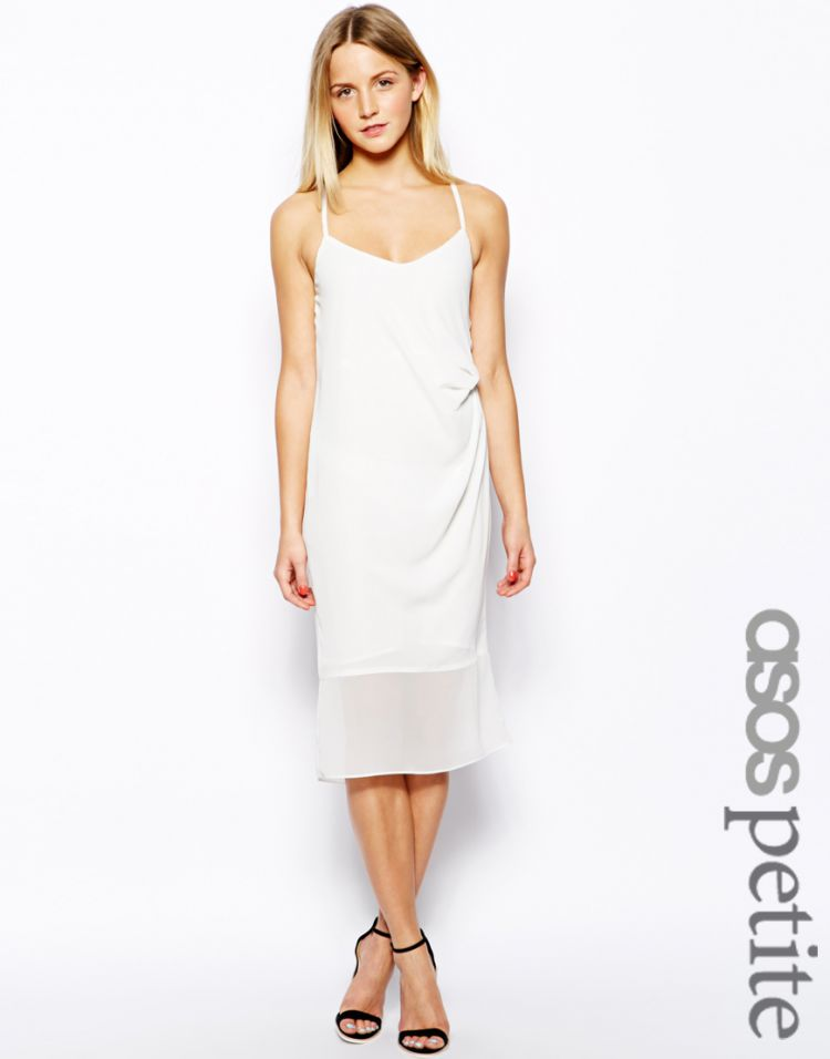 PRODUCT_IMAGE ASOS PETITE Exclusive Cami Midi Dress with Tuck Detail