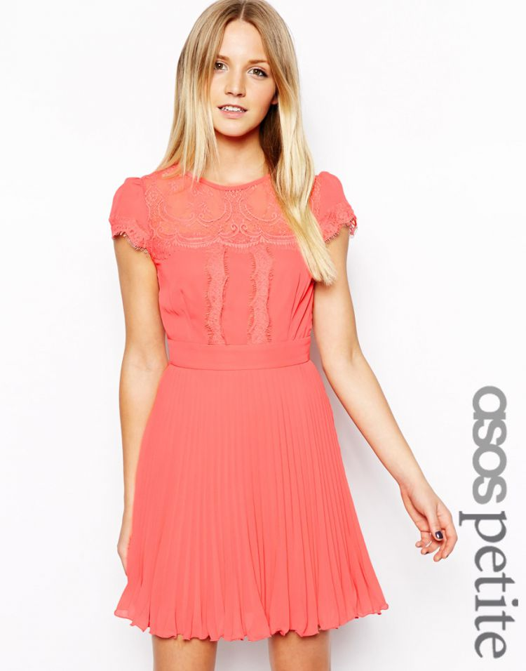 PRODUCT_IMAGE ASOS PETITE Exclusive Dress with Cap Sleeve