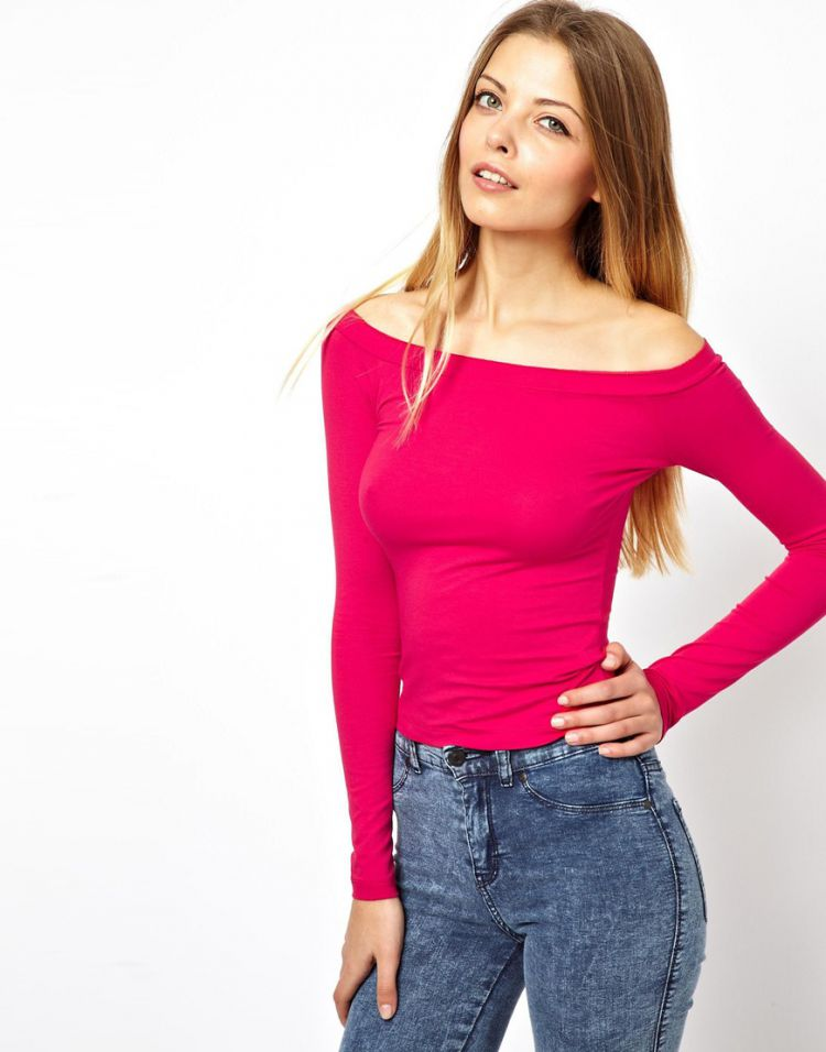 PRODUCT_IMAGE ASOS PETITE Top With Off The Shoulder